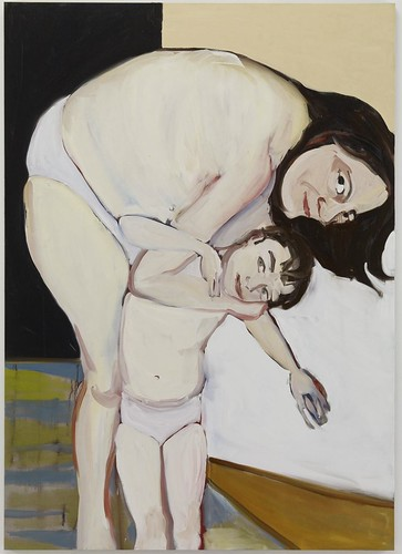 Chantal Joffe - Self-Portrait with Esme by Gandalf's Gallery