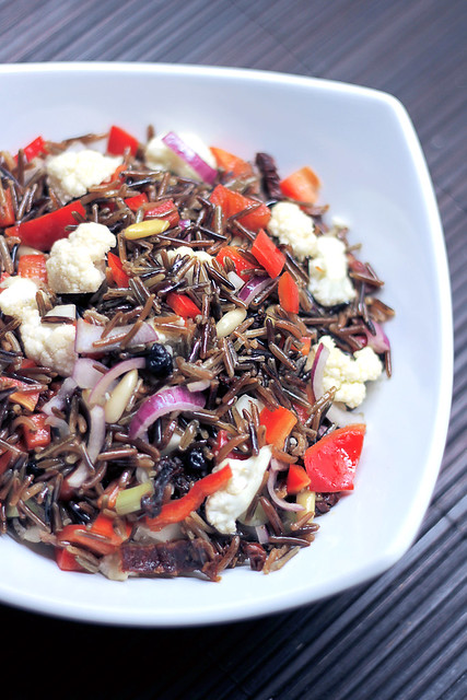 Red Pepper, Cauliflower and Wild Rice