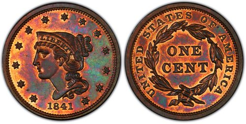 1841 Proof Cent