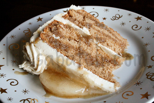 Spiced Apple Cake with Mascarpone Browned Buttercream.