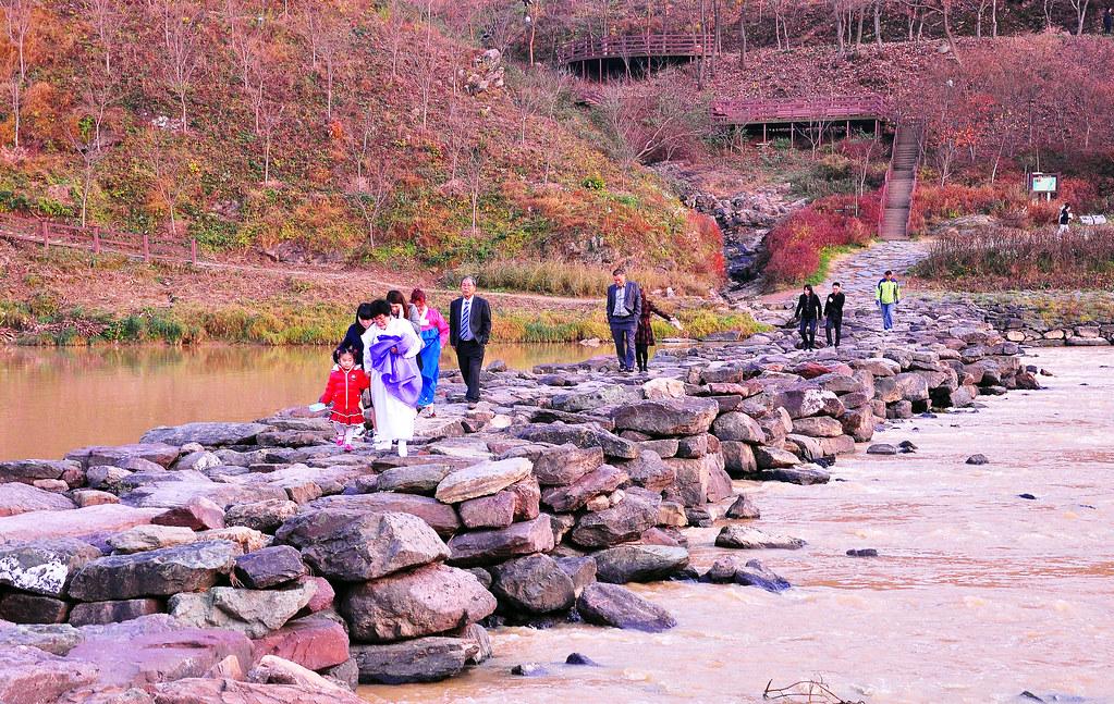 Nongdari Bridge, Jincheon, Korea (Billed as the longest and oldest stone bridge in Asia at 1000 years)