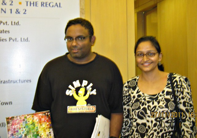 Saurabh and Rashmi at The Times Property Showcase '11 - at Le Meridien, on 27th November 2011