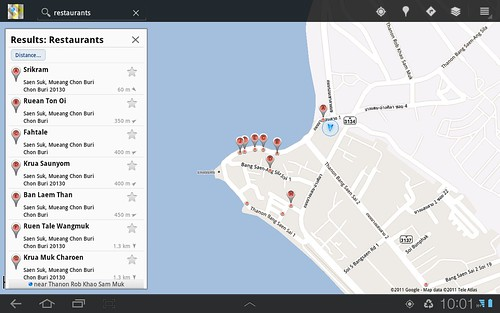 """Place"" in Samsung Galaxy Tab 10.1"
