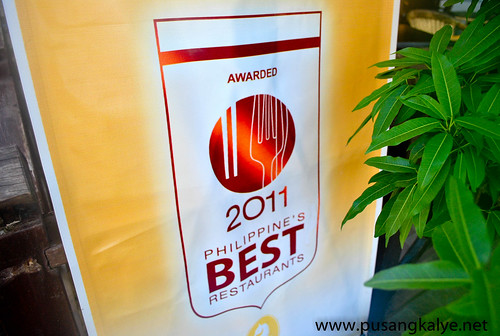 Philippine's Best Restaurants 2011 by ASIATATLER