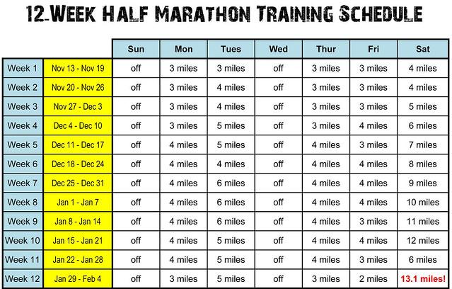 Half Marathon Training Schedule.xlsx