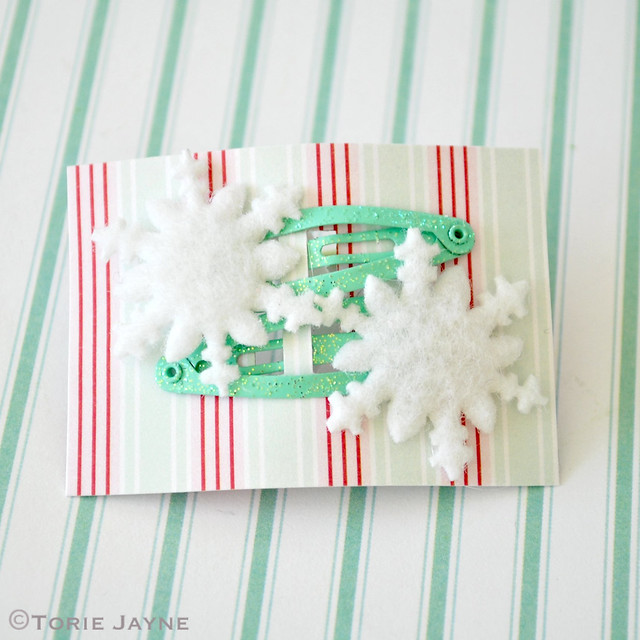 Snowflake hair clips