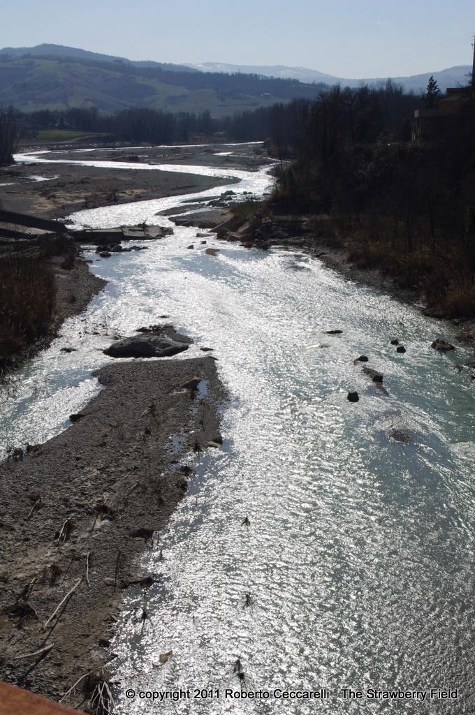 Il fiume Marecchia nei pressi di Ponte Verucchio