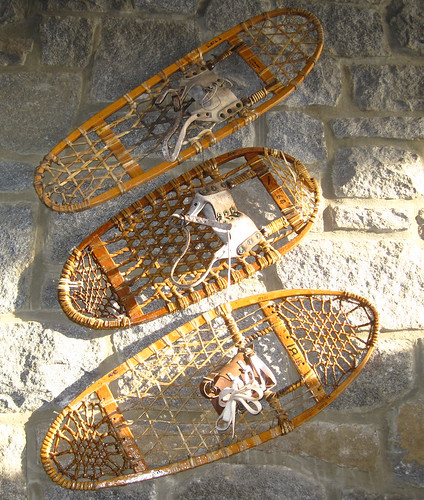 traditional snowshoes- lenticular frames