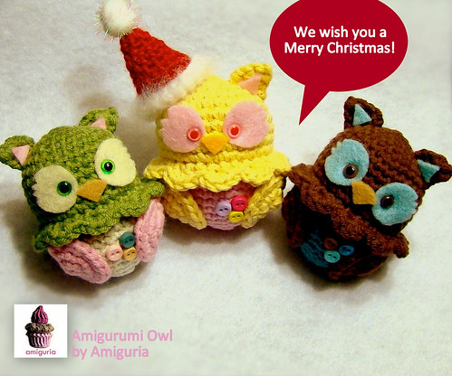 Amigurumi Owls by Amiguria by Amiguria