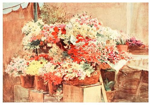 016-Puesto de flores en el mercado de Mentone-An artist in the Riviera (1915)-Walter Tyndale