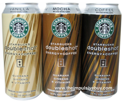 Starbucks Doubleshot Energy + Coffee Energy Drink (Mocha, Vanilla and Coffee)