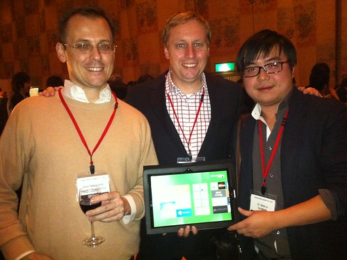 Trying out the Windows 8 tablet with Chris Demopoulos and Gang Lu