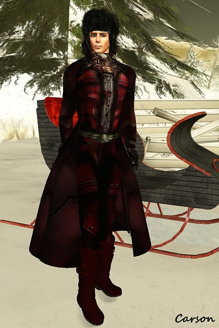 LNL -  OUTFIT O-158,, sf design - Cossack, In Her Shoes - Red Leather Boots