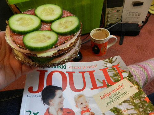 Finnish rye bread & Christmas magazine