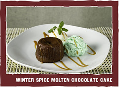 Winter Spice Molten Chocolate Cake - Z'Tejas | Bellevue.com