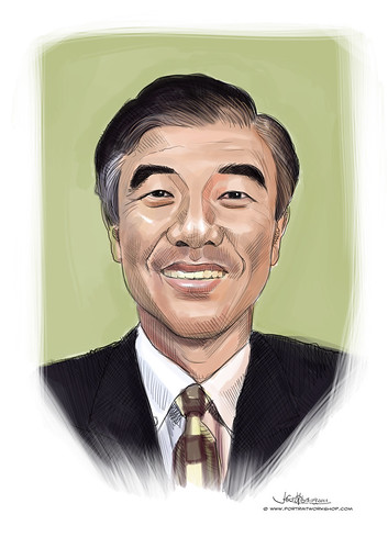 digital portrait of SCF Mr ChuaKeeHuat