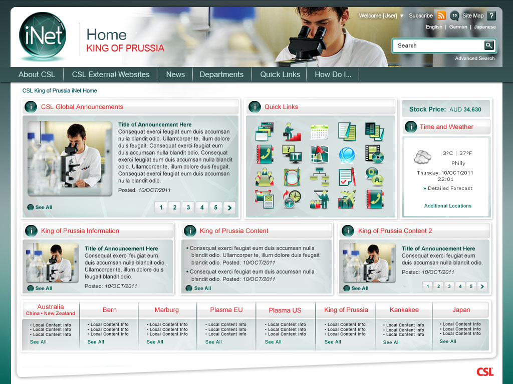 Worldwide Intranet Challenge WIC Intranet Home Page Design Competition Ent