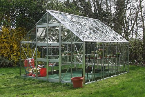 Greenhouse Eden Monarch 10x12 silver green house