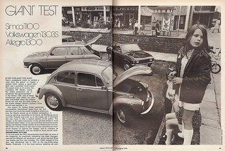 Austin Allegro 1300 - Simca 1100 & Volkswagen Beetle 1303S Group Road Test 1973 (1)