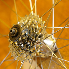 Tweaking an 8-speed cassette to fit onto a 7-speed freehub