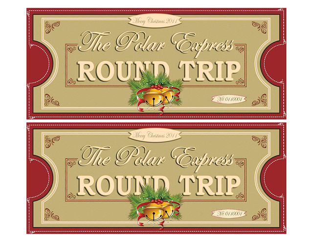 Polar Express Tickets FRONTS 2UP 8.5x11 | FREE PRINTABLE Pol ...