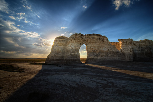 The Keyhole at Monument Rocks, KS (photo from Hidden Gems of the Western United States by Daniel Gillaspia)