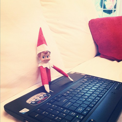 Good thing I have SafeEyes on my computer. #elfontheshelf