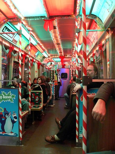 The CTA Holiday Train (by: Devyn Calwell, creative commons license)