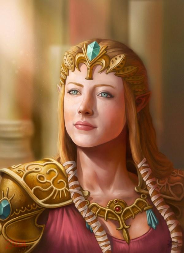 ilustración realista Zelda 02