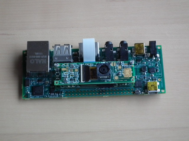 eCAM32 mounted on the Gumstix Overo Water