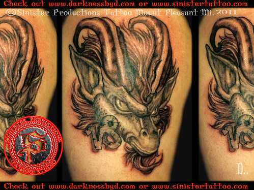 Evil goat tattoo - photo#28