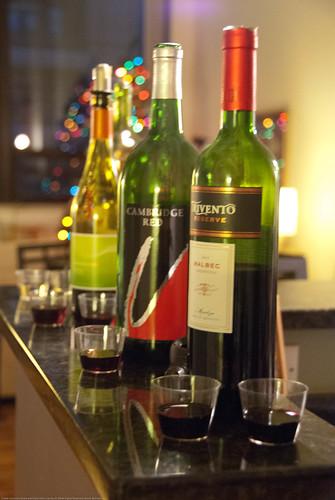 Pre-dinner wine tasting at CK's