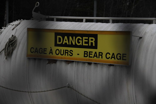 Cage for bilingual bears