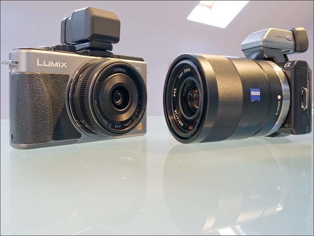 Panasonic Lumix GX1 14mm GF3 14-42mm Sony NEX-5n Zeiss 24mm f/1.8