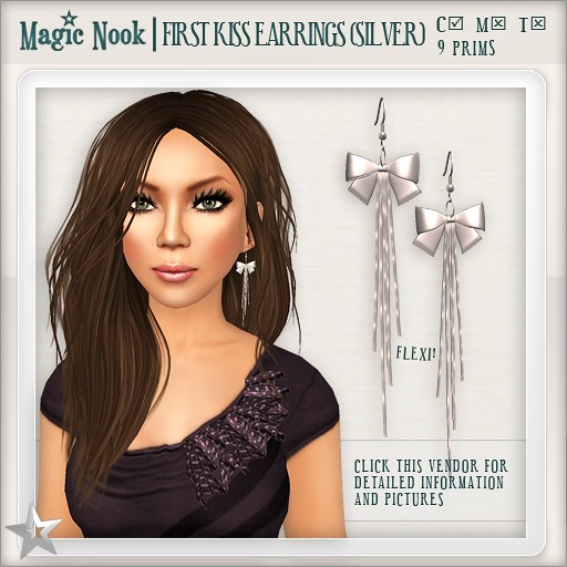 [MAGIC NOOK] First Kiss Earrings (Silver)