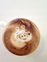 Today's latte, Green pig on Angry birds