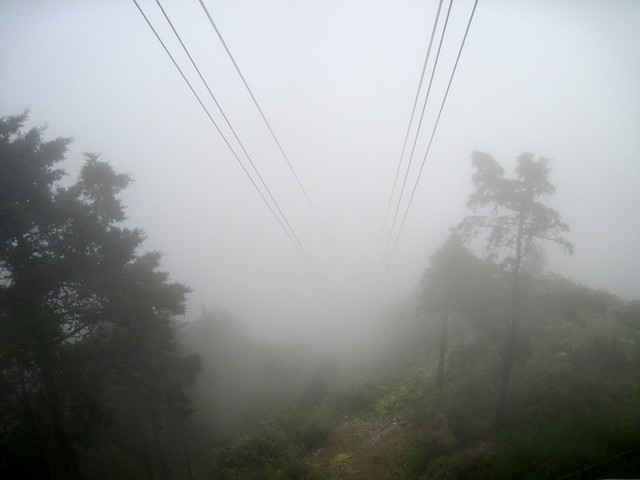 Mussoorie ropeway vanishes into the low clouds