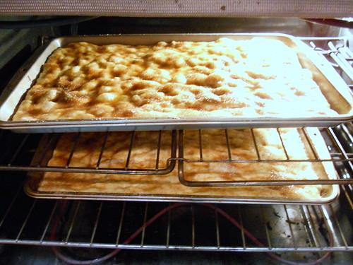Moravian Sugar Cakes baking