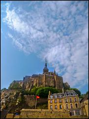 Le Mont Saint-Michel beneath Cirrocumulus clouds