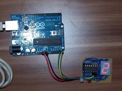 Leser projekt segment anzeige über i c bus at arduino