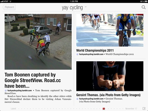 Yay Cycling on a Flipboard