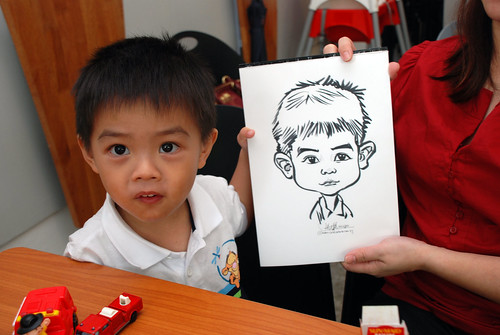 caricature live sketching for birthday party 2nd Oct 2011 - 9