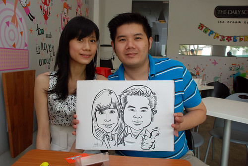 caricature live sketching for birthday party 2nd Oct 2011 - 14