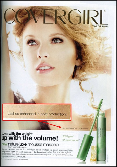 Covergirl Natureluxe mascara ad