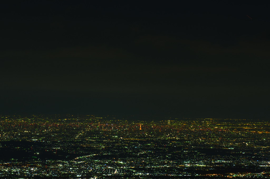 蛭ヶ岳からの夜景
