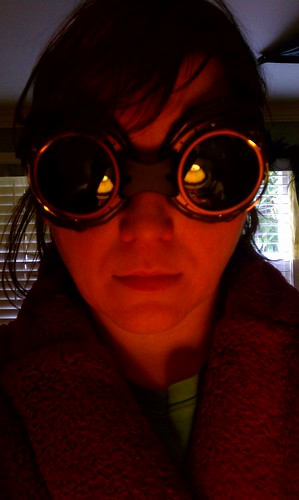 Steampunk goggles for Christmas. by Rocket_Jaz