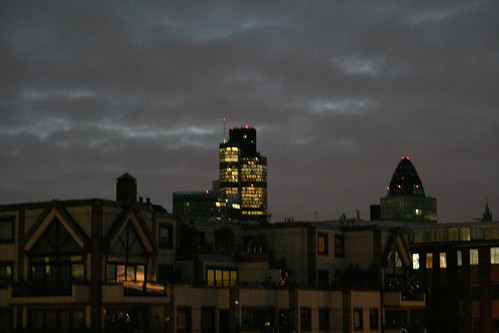 Lots of lights left on in Tower 42 on Christmas Morning