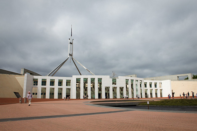 Parliament building, Canberra, ACT, Australia