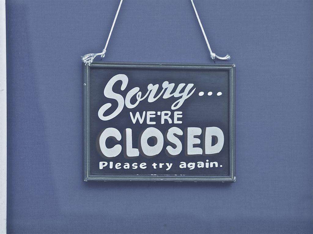 Schild; Closed