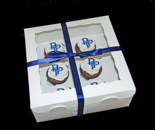 Prime Team Partners logo cupcakes